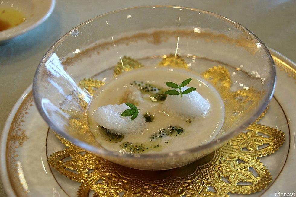 ごぼうの冷製スープ。