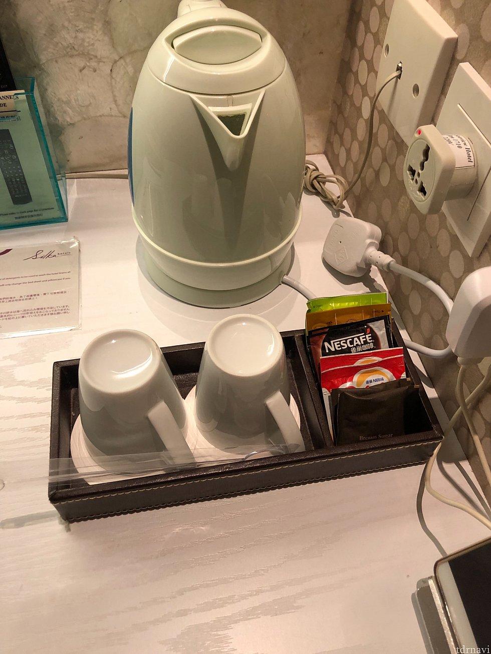 コーヒー、お茶セットもあります。