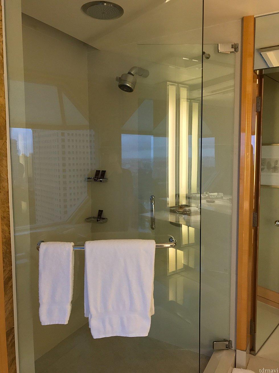 シャワーブース。バスタブとは別にあります。