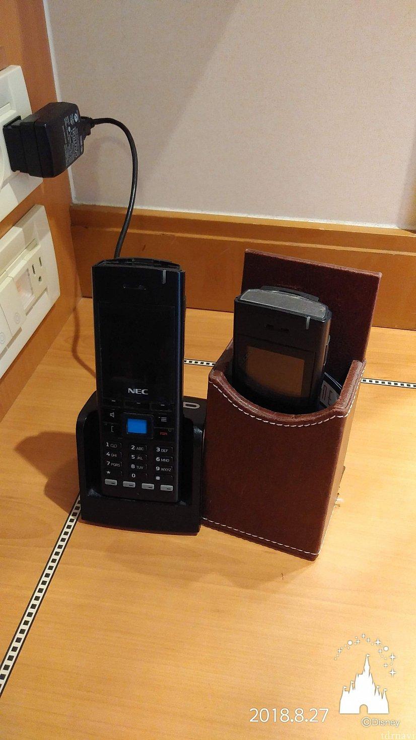 船内用の携帯電話です。