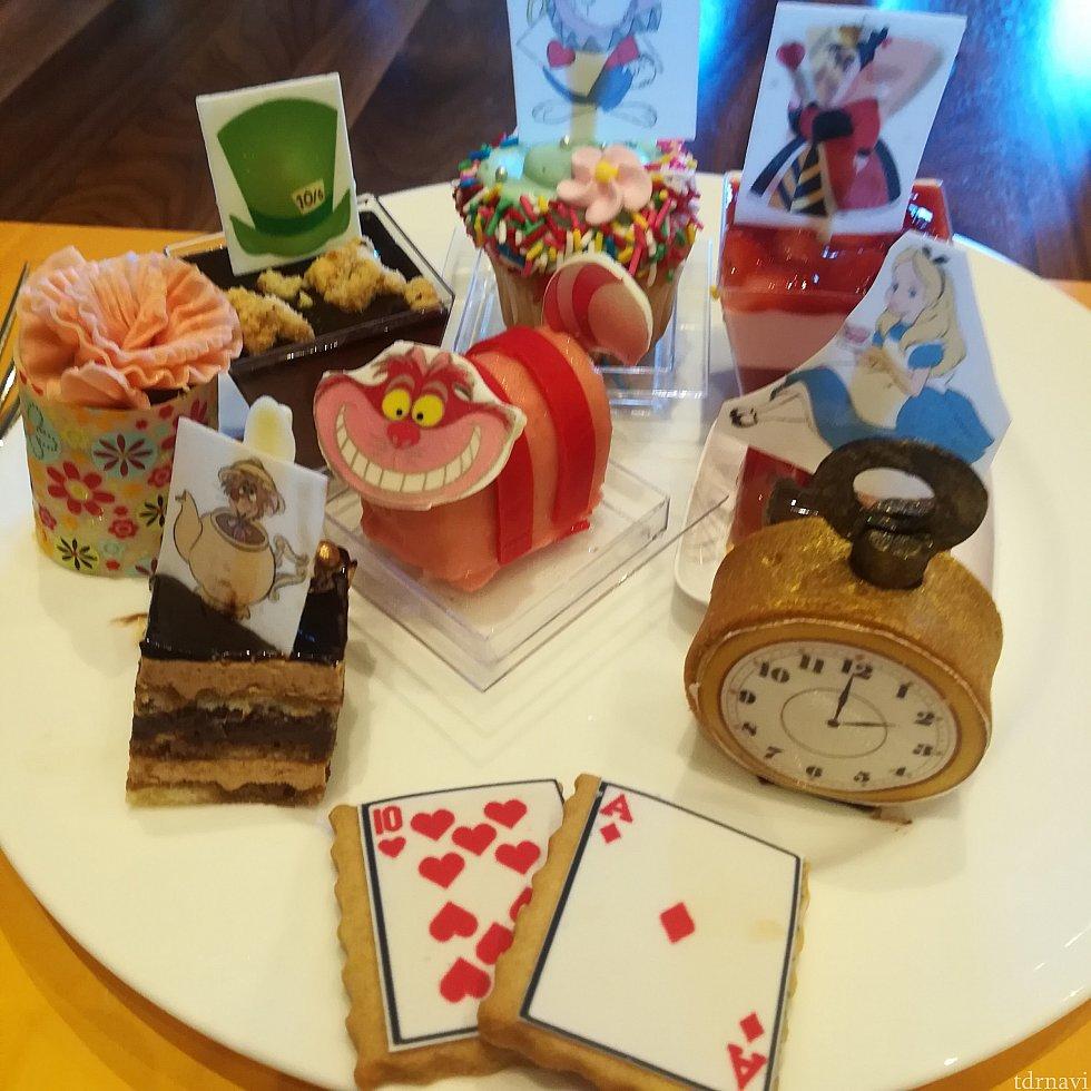 アリースモチーフのデザート全部!どれも可愛いヽ(=´▽`=)ノ