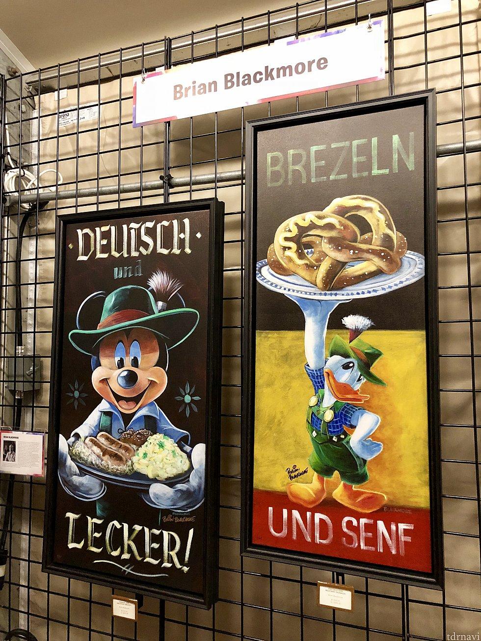 ドイツ館と言うか、ドイツがテーマの作品。レタリングとミッキー達の重厚な感じも珍しいスタイルで良いですよね。