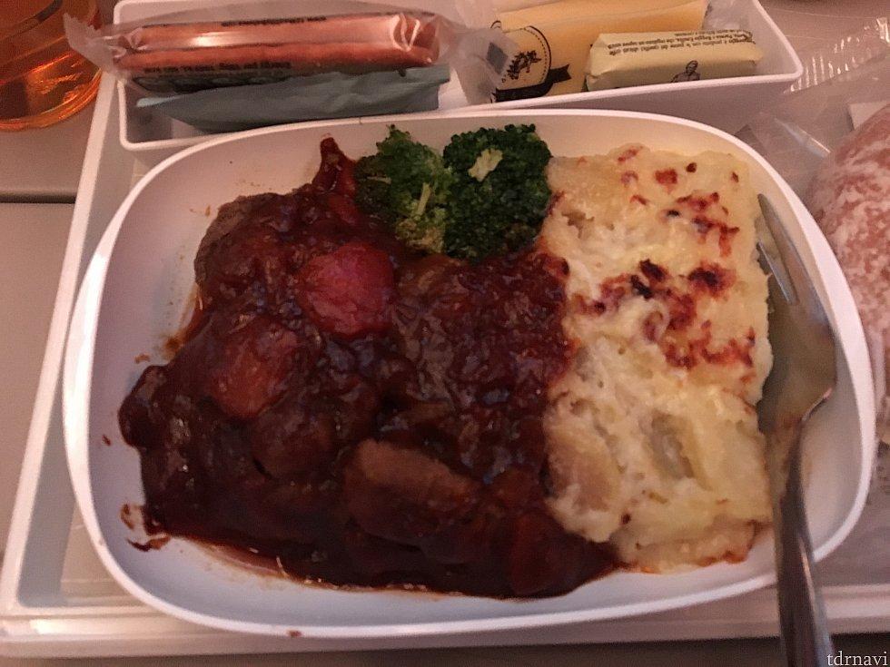 帰りの機内食です。