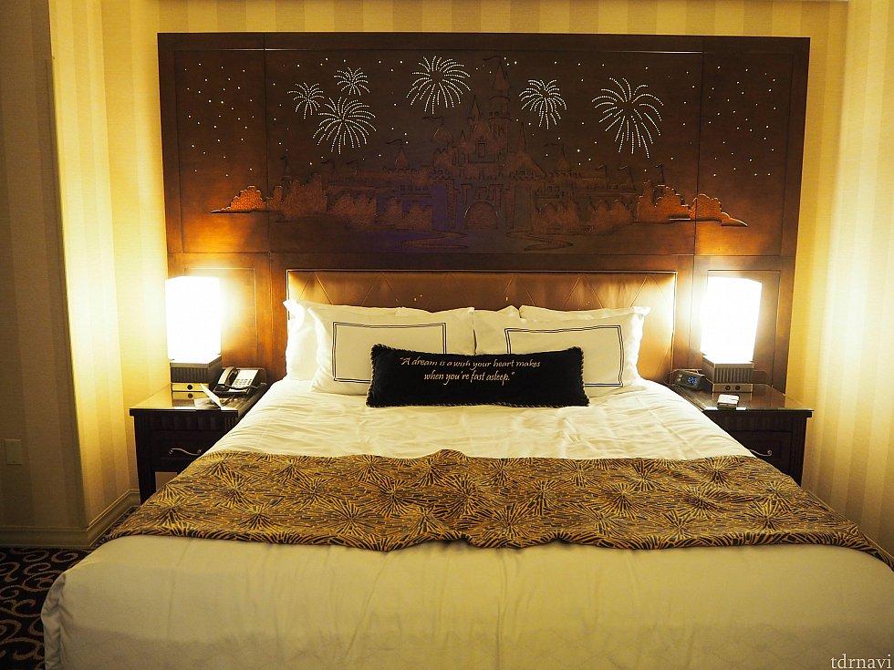パーク帰りに寝るこのベッドは格別です〜