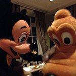 ミッキーとプルートの競演♪