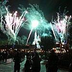 シンデレラ城のバックから見た花火
