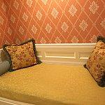 ここが壁の部分のベッド