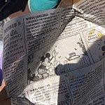 なんと包み紙がミッキー新聞!!!!これが1番感動しました!!!