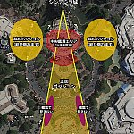 ワンス・アポン・ア・タイムの場所取りマップ (C)Google