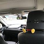 uberの中です。普通のタクシーより全然乗り心地は良いですよ!