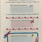 隣のページにはミッキーアベニューのお店のクイズが載っています!