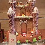 ドリンクバーの横にかわいいお菓子の城がありました。