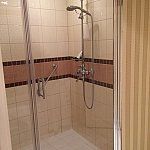 シャワーの水圧は5段階で言えば3程度。