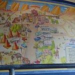 カリフォルニアカーズランドはこの地図の通りに再現されてましたよ。