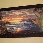 ハワイ感満載の絵画がお部屋に。