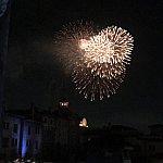 お部屋から花火が見えました(^o^)