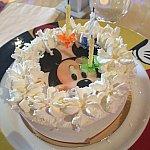 バースデーケーキはアイスケーキでした♪