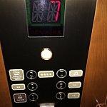ルームキーを挿し込むと7階に止まります