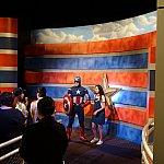 キャプテン・アメリカのグリーティングは人気でした。15分待ちぐらい。