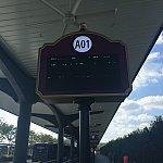 パークからは、A01番がバス停になります。5分くらい待ってバスが来ました♪