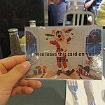 グリーティングカード。グーフィーとグリーティングをしたいときに持っていきます。
