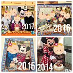 毎年ケーキカットするキャラクターやコスチュームが行く時期によって違います!ケーキの大きさも変わりました(o^^o)来年は、春コス狙いで行こうかな♪
