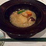 白身魚の蟹肉と冬瓜のあんかけ