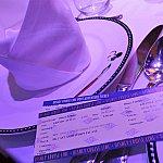 オンライン予約の場合はお部屋に、乗船日予約の場合は予約時に写真のようなチケットを渡されます。