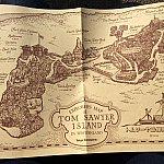 こちらがトムソーヤ島の地図。いかだ乗車前にもらいそびれても、島内でもらえますよ
