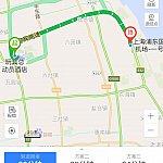 トイストーリーホテル➡️上海浦東空港T1までの最安値ルート。
