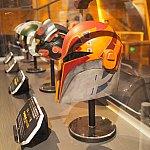 反乱軍のヘルメットの展示。反乱者たちのサビーヌのメットもあって感激!