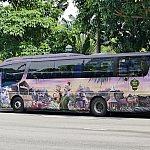 ミスティックポイント柄のバス