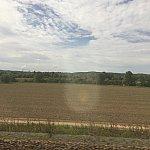 パリ郊外ののどかな風景。TGV結構早い!でも新幹線のように乗り心地は滑らかでは無いです。