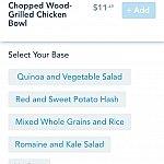 """""""Base""""を選びます。お肉の下にひくご飯や野菜のことですね。僕はポテト系にしてみました。"""