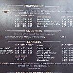 トロリーカー・カフェのドリンクメニュー