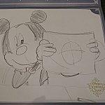子どもも楽しめます。大好きなミッキーが描けた!と大喜び。
