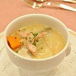 サルシッチャとマトンのクリーミーシチュースープ