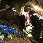 ロビーにいる恐竜。