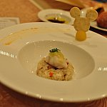 八穀米と季節野菜のスチーム ジンジャー風味のブロードを注いで。お米!美味しい!そして出汁を注いで頂けます、ほんとこれ美味しかった~♡