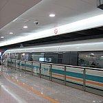 「浦東国際空港駅」に到着。速い。7分20秒で到着。