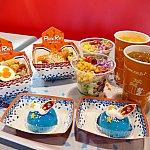 ライスボウルセットとヨーグルトムースケーキ(写真は2人分です。)