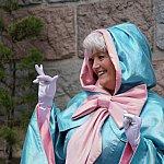 眠れる森の美女の城の裏ではフェアリーゴッドマザーの整列グリが行われていました。