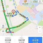 【ルート2】ホテル付近を更に拡大。 (上海浦東空港T1➡️トイストーリーホテル付近拡大図)。