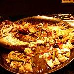 白身魚のアクアパッツァ。ご覧の通り大人気です!