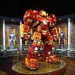 やはりアイアンマンのパワースーツの展示が素晴らしい!