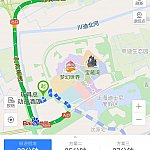 トイストーリーホテル➡️申迪西路➡️迪士尼大道➡️沪芦高速➡️迎宾高速 S1➡️上海浦東空港T2 (トイストーリーホテル付近道路拡大図)。