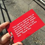 待ち時間の例のカードを渡されました