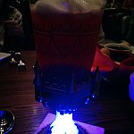 スーベニアグラスは光っていたけど、暗すぎましたね