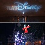 前夜祭、ディズニーランドが貸切になります。ペイント・ザ・ナイトは逆回りでした。
