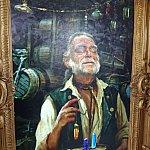ギブス航海士の絵画ですが、この絵は動いて、しゃべるんです!
